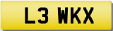 LEWIS K Private Registration Cherished Number Plate LEW XK
